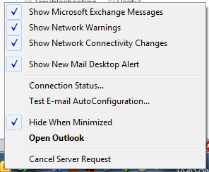 Outlook Troubleshooting Options